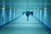 Subway corridor and walking — Stock Photo