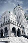 Extérieur de l'église orthodoxe antique — Photo