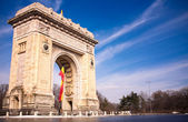 Arco di trionfo a bucarest in romania — Foto Stock