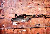 Pozadí rezavé staré kovové stěny — Stock fotografie