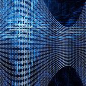 Futurystyczne tło z numerów kodowych — Zdjęcie stockowe