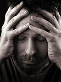 Sad depressed and lonely man — Stock Photo