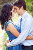 Cute couple sharing a romantic intimate moment — Stock Photo