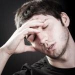Depression concept - sad young man — Stock Photo #9980612