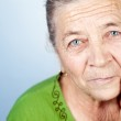 Face of content beautiful old senior woman — Stock Photo