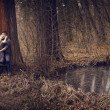 Young couple hugging with passion outdoor — Stock Photo #9981020