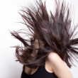 Active woman with hair in motion — Foto de Stock