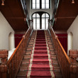 Stock Photo: Old palace interior - wooden stairs