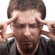 Man suffering from migraine or headache — Stock Photo #9981456