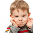 Cute kid making a funny face — Stock Photo