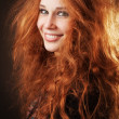 Redhead woman with beautiful long hair — Stock Photo