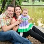 família feliz - filha de mãe e pai — Foto Stock