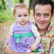 Father and baby daughter — Stock Photo #9981623