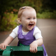 Laugh of happy little baby girl — Stock Photo