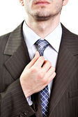 Business suit detail - tie of modern businessman — Stock Photo