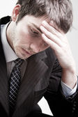 Depressed sad tired business man — Stock Photo