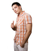 Cool handsome guy isolated on white — Stock Photo