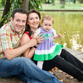 Happy family - mother daughter and father — Stock Photo