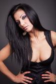 Fashion portrait of sexy brunette woman — Stock Photo