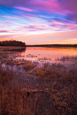Pastel Sunrise at Lake Jacomo in Blue Springs, Missouri — Stock Photo