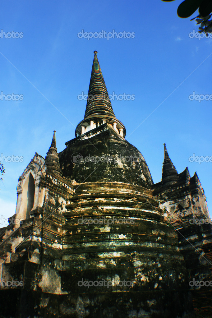 Wat Phra Si Sanphet, one of the old temple at Ayutaya, Thailand. — Stock Photo #7966903