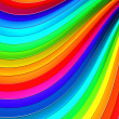 Colorful abstract curve stripe background 3d illustration - Stock Photo