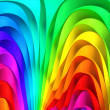Colorful abstract stripe background 3d illustration - Stock Photo
