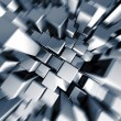 Stock Photo: Silver dynamic motion block background