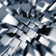 Silver dynamic motion block background - Stock Photo
