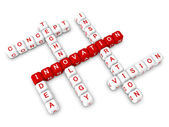 Crossword bussiness innovation concept — Stock Photo