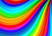 Colorful abstract curve stripe background 3d illustration — Stock Photo