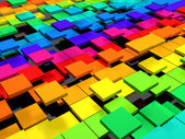 Colorful dynamic square background — Stock Photo