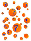 Question mark ball floating on the air — Stock Photo
