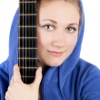Girl and guitar — Stock Photo #10489754