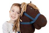 Koně a boy — Stock fotografie