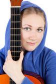 девушка и гитара — Стоковое фото