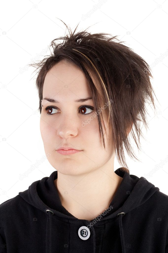 Pretty alternative teenage girl closeup — Stock Photo #10489859