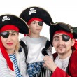 Pirate family — Stock Photo