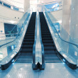 Transparent escalator — Stock Photo