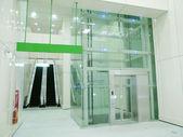 Transparent elevator — Stock Photo