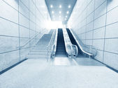 Staircase and escalator — Stock Photo