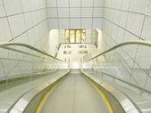 Escalator to underground — Stock Photo