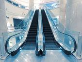 Transparent escalator — Stock Photo