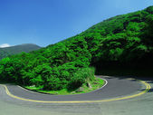U turn Road — Stock Photo
