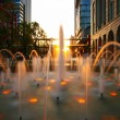 Fountain on street — Stock Photo