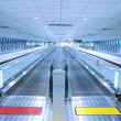 Long travelator - Foto Stock