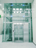 Transparent elevator — Stock Photo