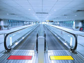 Long travelator — Stock Photo