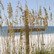Cross on Beach — Stock Photo #8124026