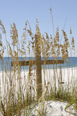 Cross on the Beach — Stock Photo